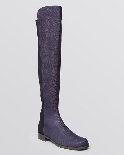 ... Over The Knee 5050 Stretch Suede Boots. Pretty in purple...Stuart  Weitzman Boots - 5050 Goosebump from Bloomingdale s  boots  stuartweitzman 63001a4716a9