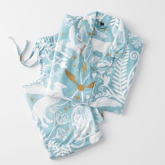 Harry Potter Patronus Damask Flannel Pajama Set Mystic
