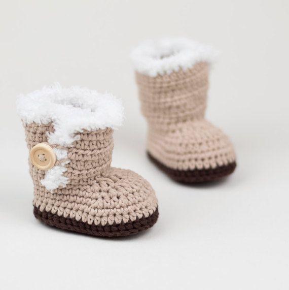 CROCHET PATTERN - Crochet Baby Ugg Inspired Baby Booties - Baby ...