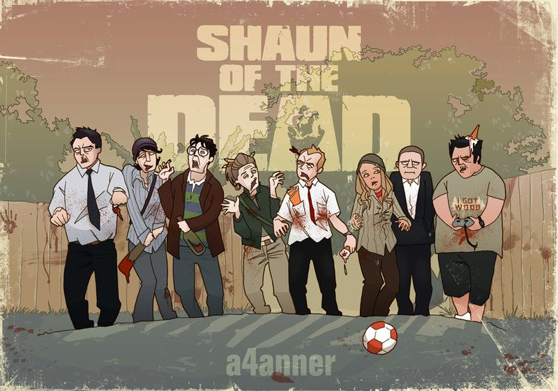 Shaun Of The Dead By A4anner On Deviantart Dylan Moran The Dead