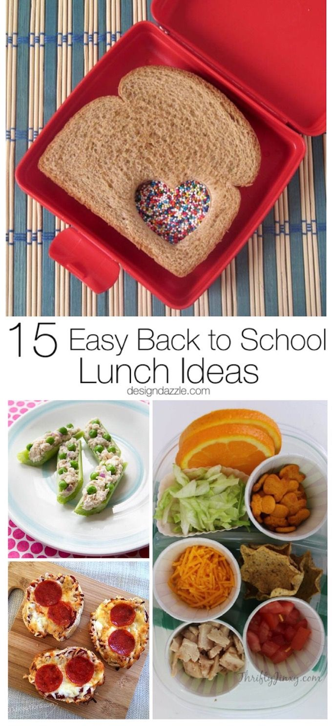 Easy Back to School Lunch Ideas - Design Dazzle