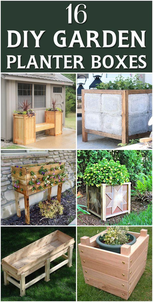 16 Outstanding DIY Garden Planter Boxes Diy backyard