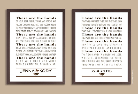 These Are The Hands Wedding Keepsake Blessing Of The Hands Etsy Wedding Keepsakes Wedding Poems Best Wedding Vows