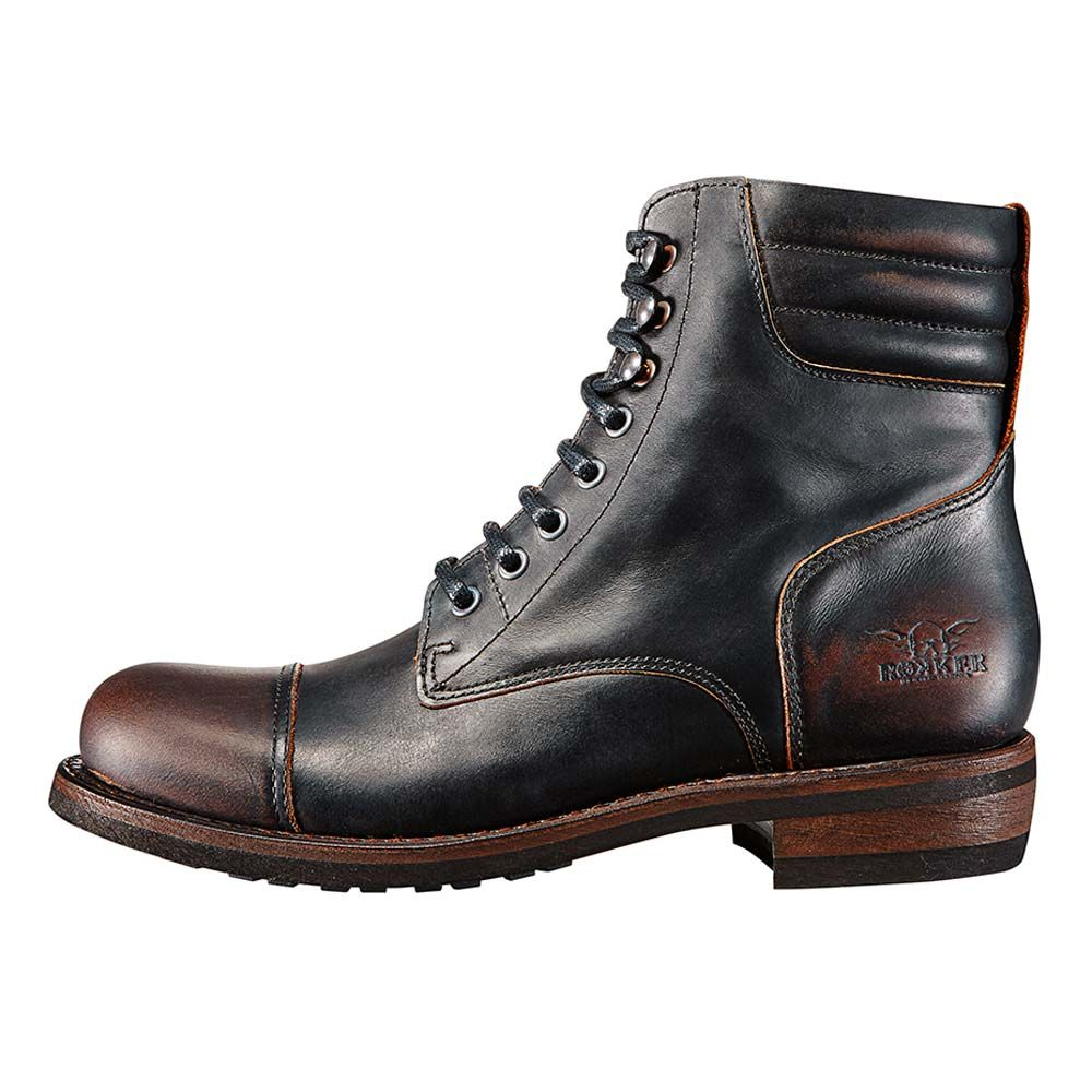 rokker urban racer boots - antique black | motorcycle footwear