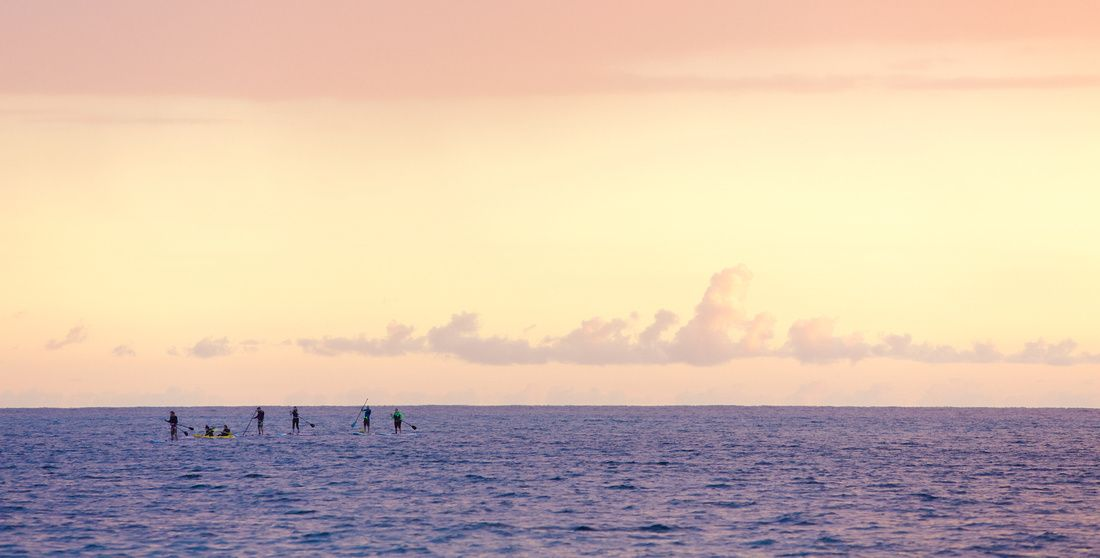On the water at dusk, Rincon, Puerto Rico.