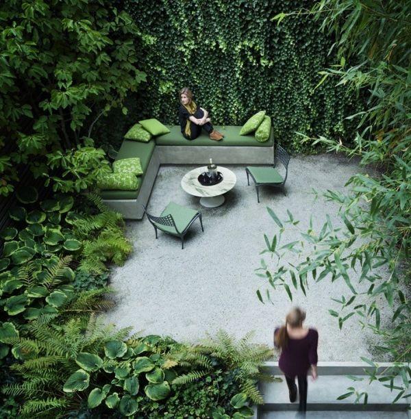 Kleinen Garten-Gestalten Sitzecke Loungemöbel Moderne Gärten