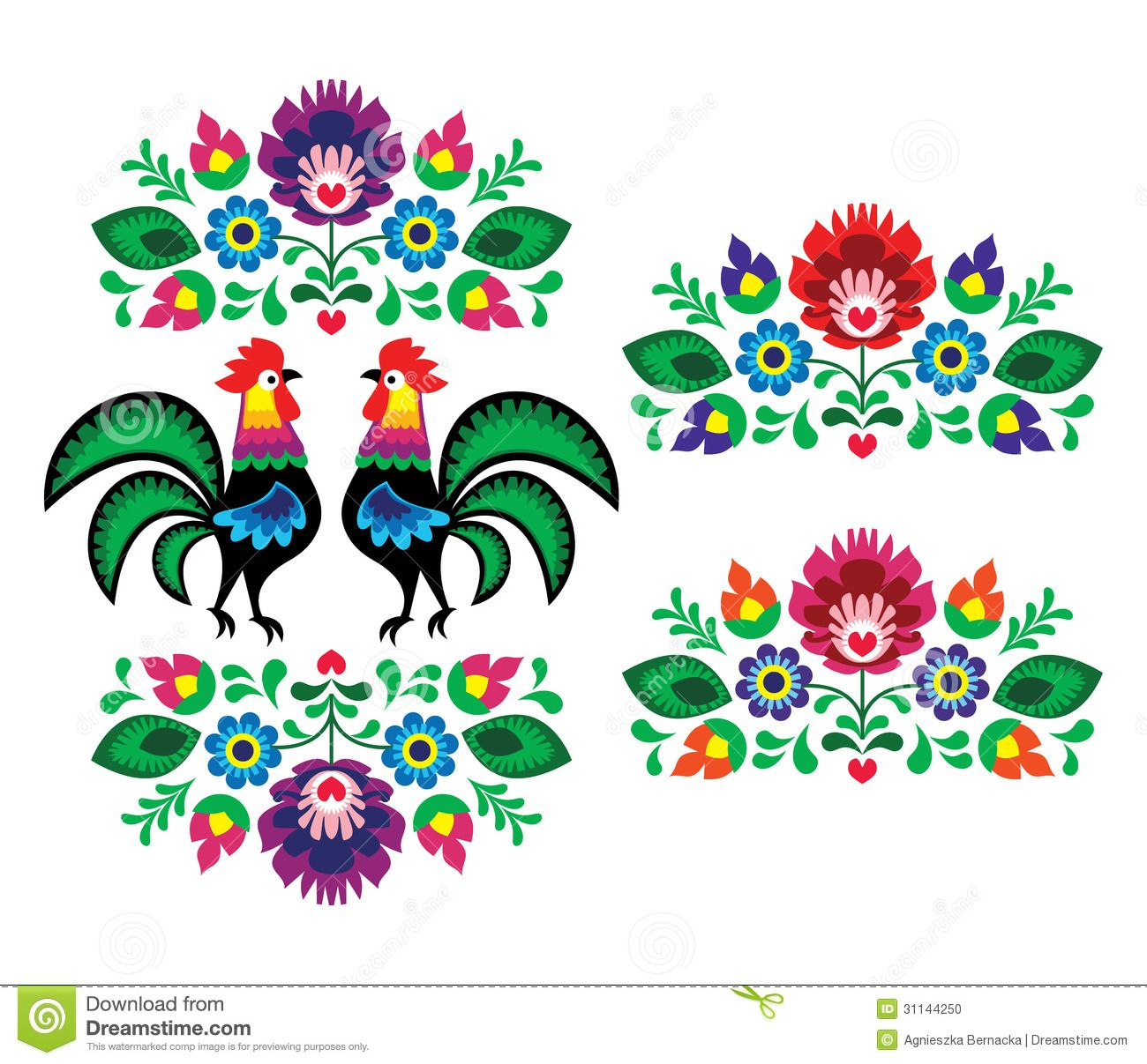 Resultado de imagen para bordado mexicano mano bordado polish ethnic floral embroidery with roosters traditional folk pattern stock vector illustration 139389353 shutterstock bankloansurffo Images