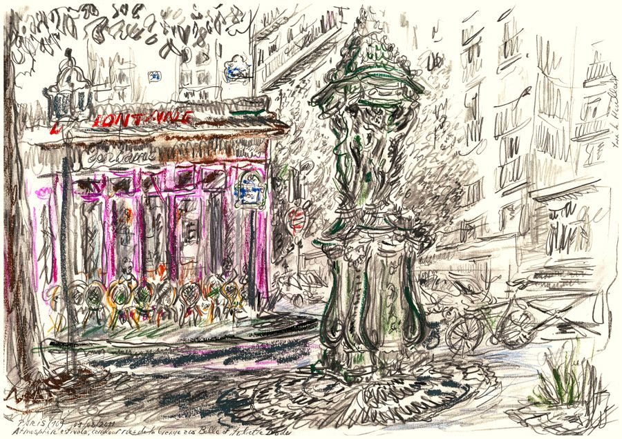 Paris Fontaine Wallace Rue Grange Aux Belles (10ème) - Yann Le Houelleur