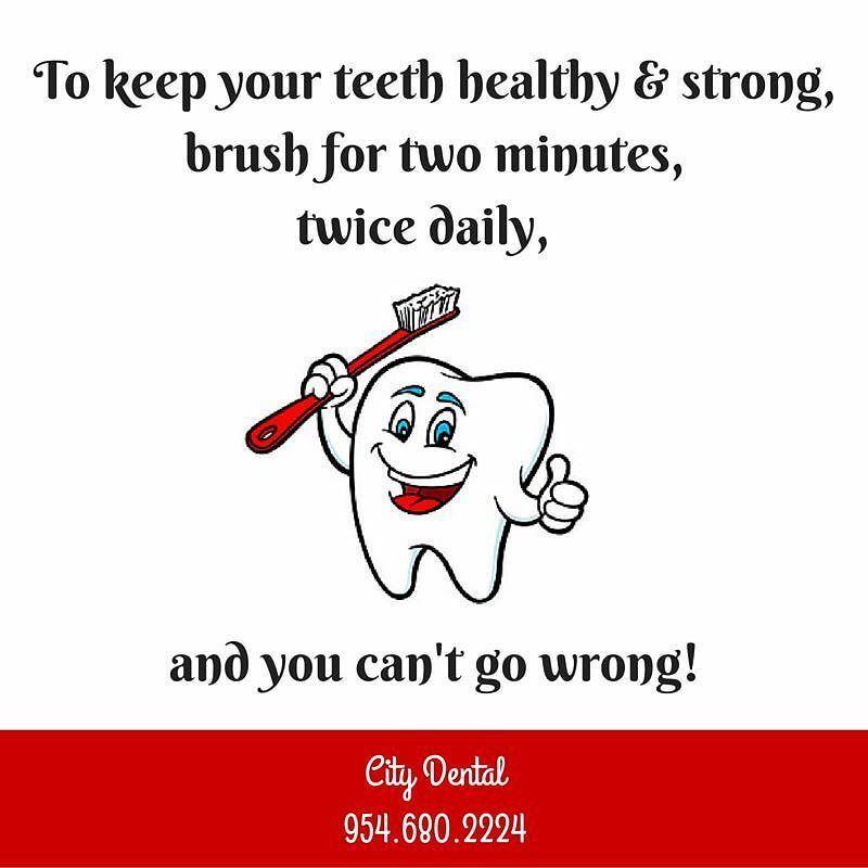 "City Dental 9546802224 on Instagram ""Healthy habits"