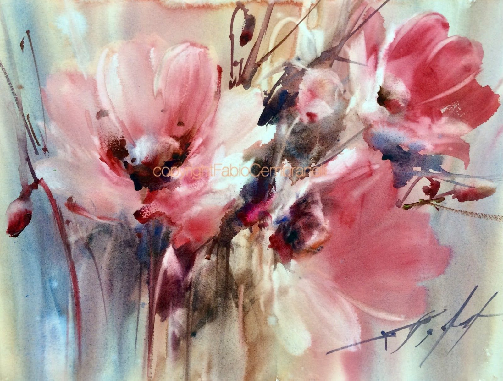 A Painter S Diary Watercolor Flowers Paintings Floral