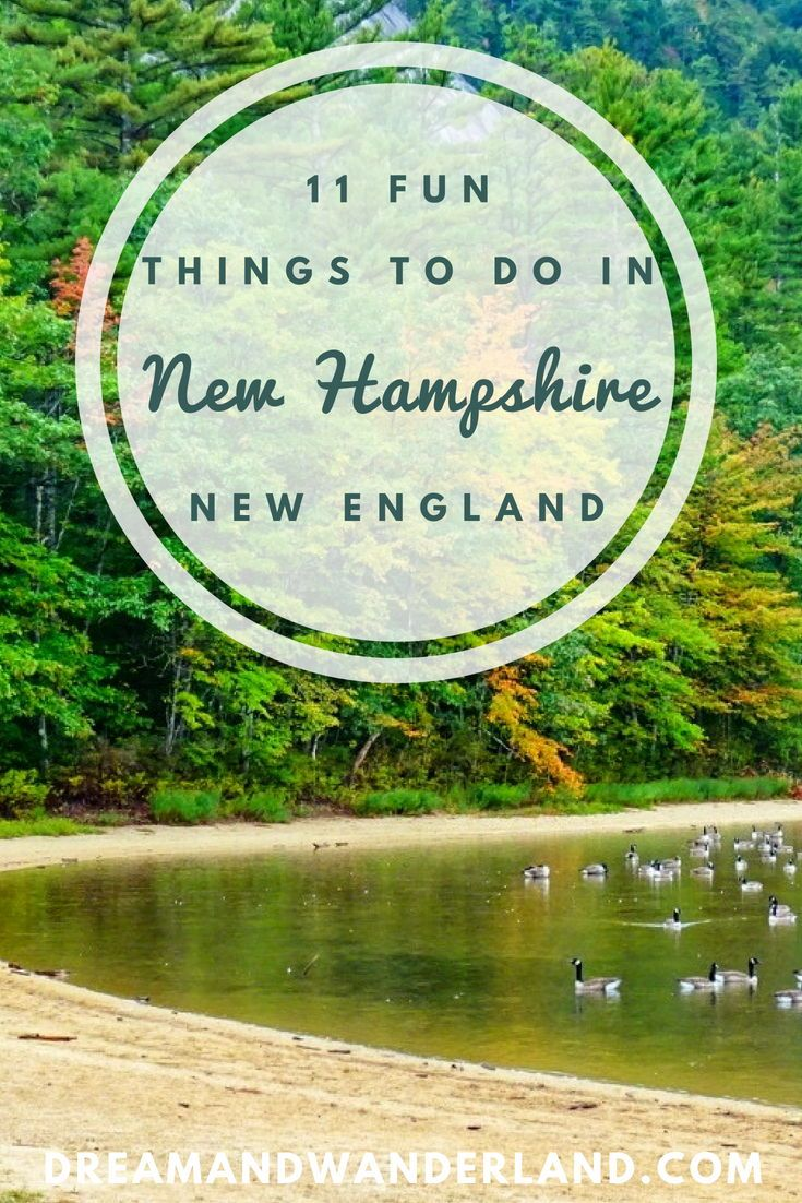 New England: 11 Fun Things To Do In New Hampshire #travelnorthamerica