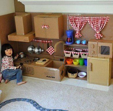 Мебель для ребенка из картона своими руками