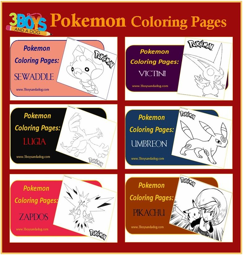 Printables: 6 Pokemon Coloring Pages   Pokemon coloring, Pokémon and ...