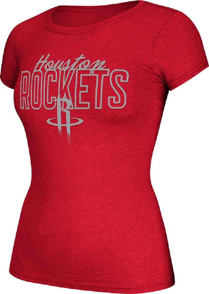 buy online 0db21 96621 NBA Womens Houston Rockets Crazy Foil Cap Sleeve Fitted Tee ...