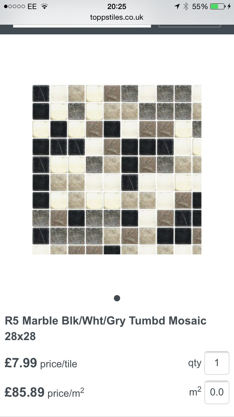 Splash Back Option With Images Grey Mosaic Tiles Topps Tiles