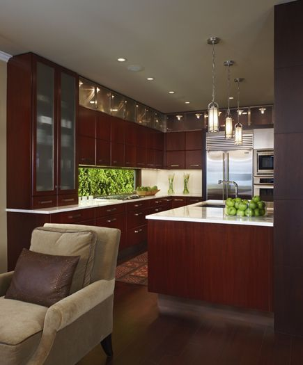 Singer Kitchens: With Clean Modern Lines And Rich Mahogany Cabinets This