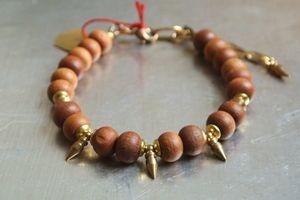 Image of Sandalwood Bracelets by Karma Victoria Jewelry #ohm #om #yoga #mindbodyspirit #bracelet #fashion #jewelry #sandalwood #spike #peace #karmavictoria