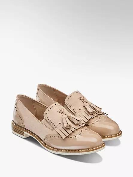 Jasnorozowo Bezowe Lakierowane Lordsy Damskie Graceland 1144634 Deichmann Com Loafers Sperry Boat Shoe Shoes