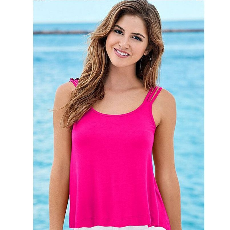 Find More Tank Tops Information about Chiffon Sling Summer Top for Womens Backless Beachwear 2016 Pure Fashion,High Quality top 10 t shirt,China summer business clothes men Suppliers, Cheap summer nest from Lolo Moda on Aliexpress.com