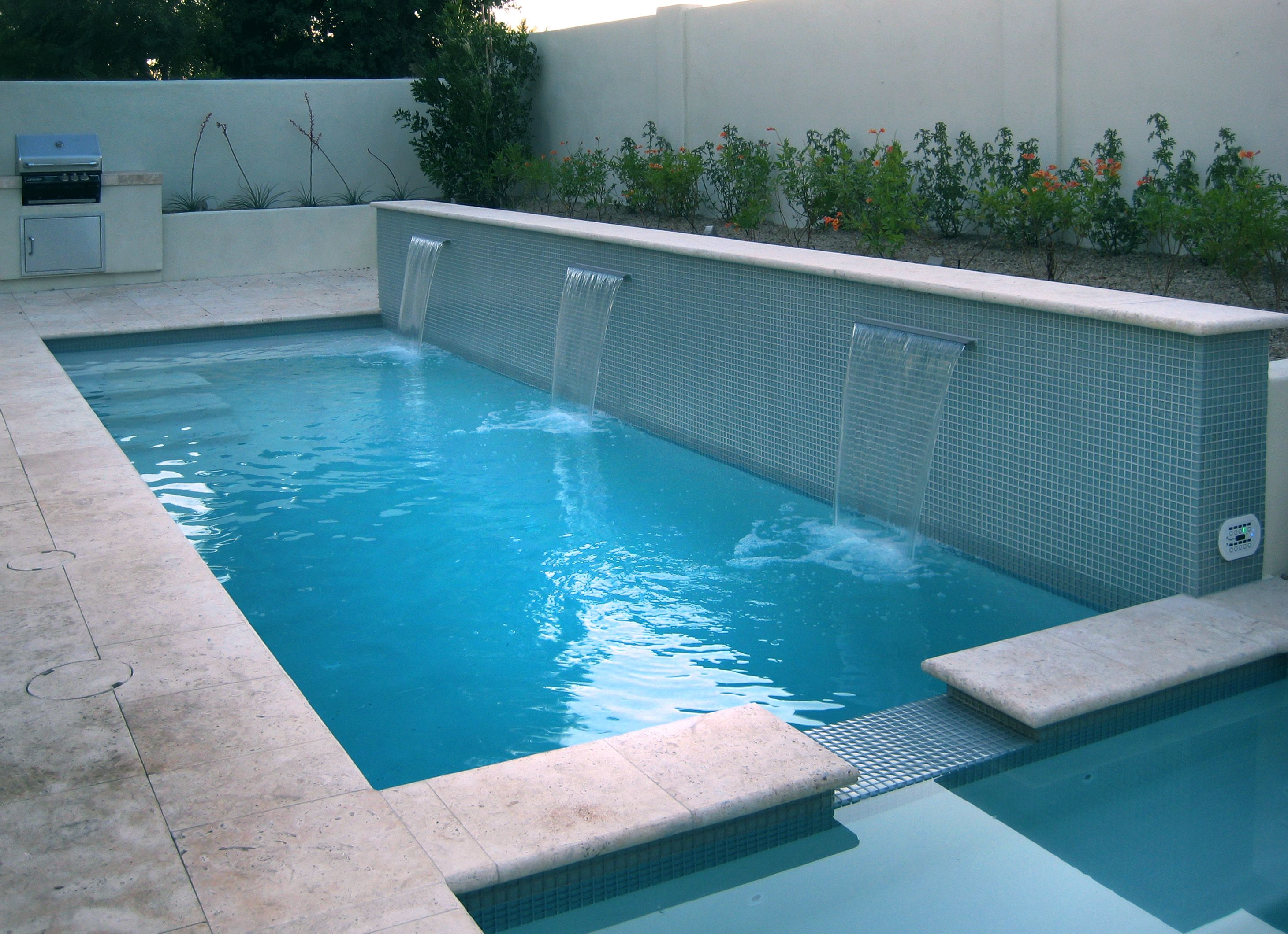 Water feature and swimming pool tile for Swimming pool plan