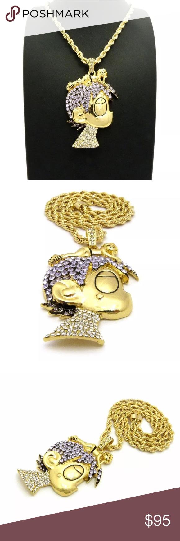 Lil uzi vert cartoon hip hop necklace pendant set nwt pinterest lil uzi vert cartoon hip hop necklace pendant set iced out lil uzi vert cartoon pendant aloadofball Gallery