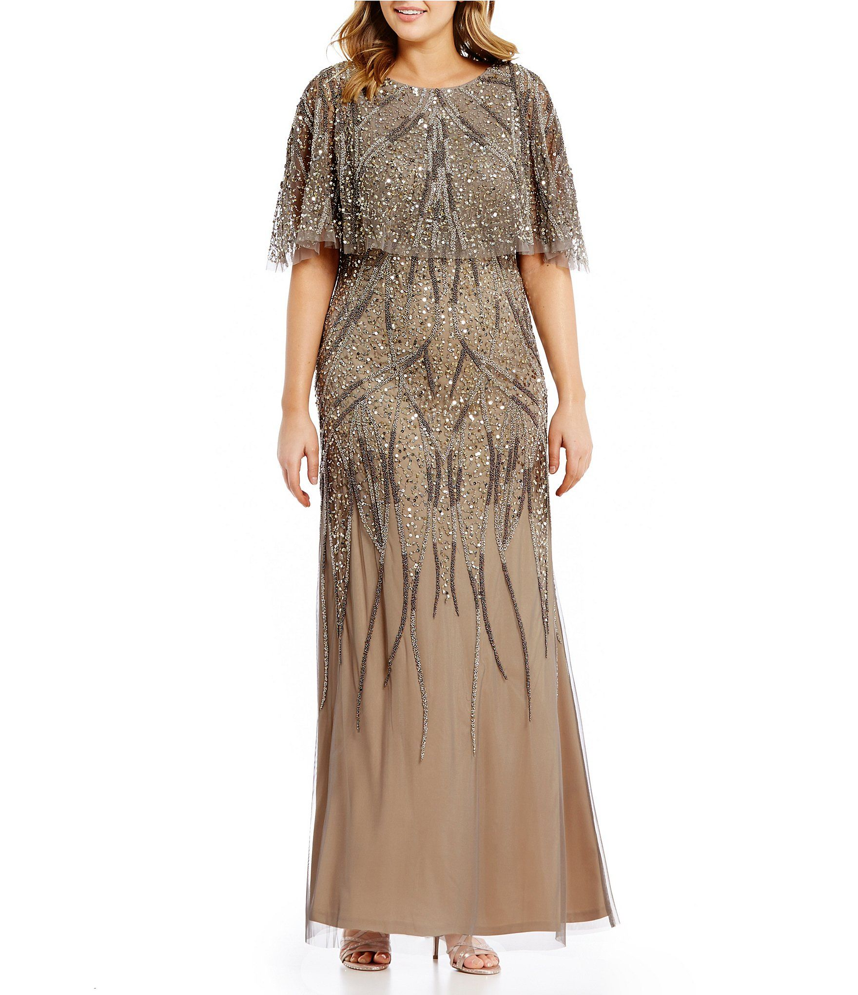 ff8e902926 Shop for Adrianna Papell Plus Beaded Capelet Gown at Dillards.com. Visit  Dillards.com to find clothing