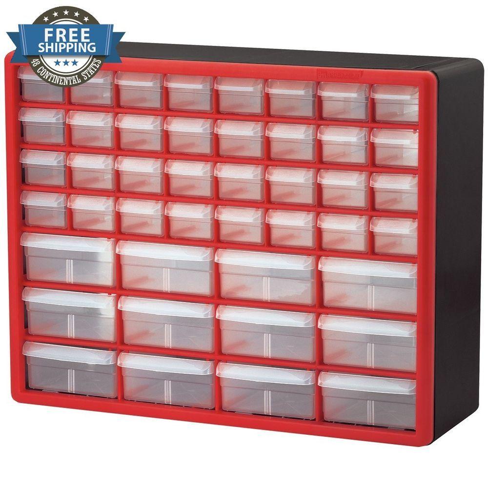 Storage Organizer Plastic 18 Drawer Cabinet Car Toy Craft Tool Garage Kitchen Akromils Professional Tools Craft Storage Cabinets Drawer Hardware Craft