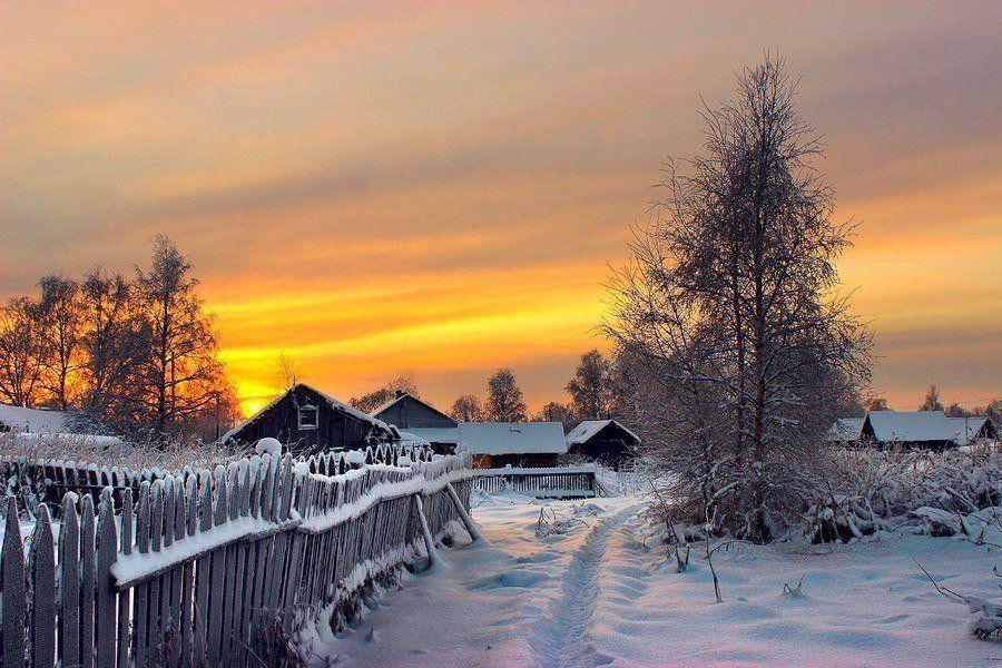 Румянцев картинки, картинки деревня зимой