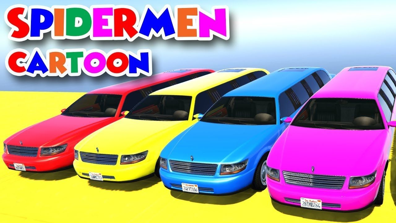 Cartoon Movie 39 Color Police Cars On Bus And Spiderman Cartoon For Kids W Superheroes Thanks For Watching My Video If You Enjoy This Video Please Like Sh