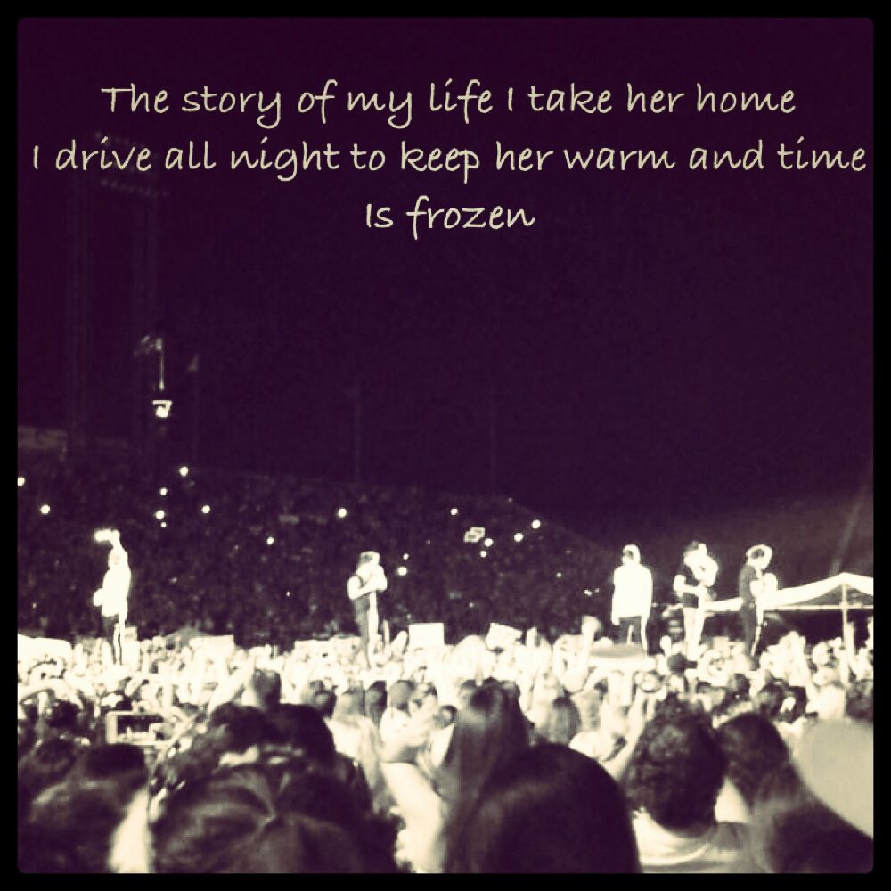 Story Of My Life One Direction Lyrics Pinterest Songs - 1000x1000 ...