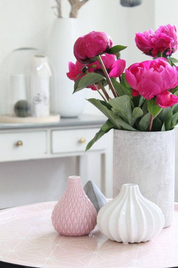 Deko Blumen pfingstrosen interior einrichtung einrichtungsideen deko