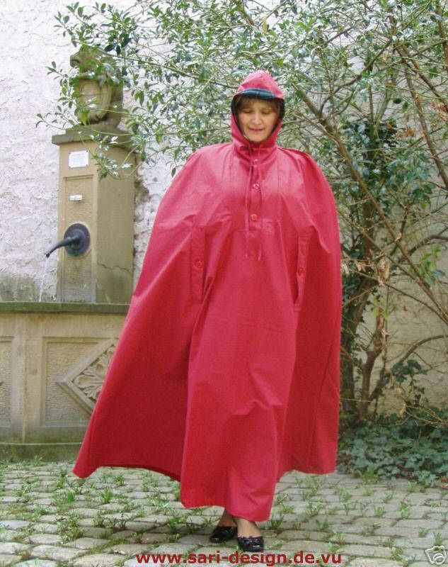 rain cape regencape raincoat lack shiny vinyl regenmantel. Black Bedroom Furniture Sets. Home Design Ideas