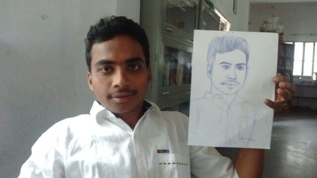 My pen drawing with sitter