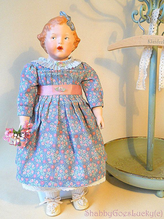 Antique Repro Heubach character girl bisque
