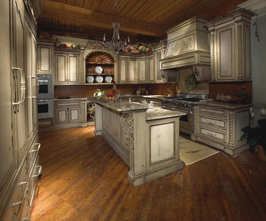 Grey Kitchen Cabinets With Wood Ceiling Tuscan Kitchen