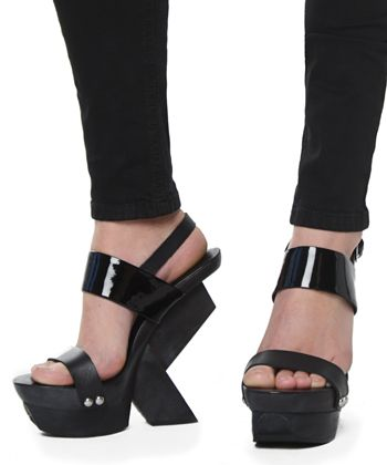 united nude abstract wedges , i love any shoes inspired from geta s ;)