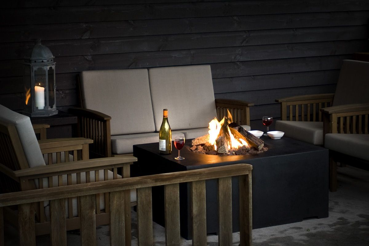 Feuer für Terrasse und Garten | einfache Feuerstelle, Vorrat und ...
