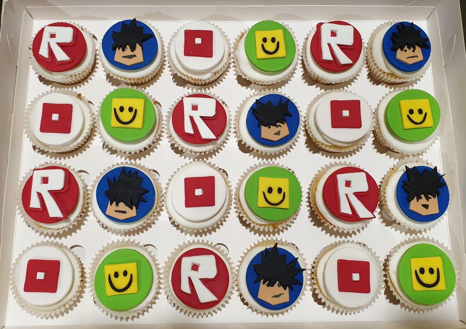 Roblox Birthday Cupcakes Sebastian S 7th Birthday Roblox Cupcakes Cupcake Birthday Cake Cupcakes Decoration Birthday Cupcakes