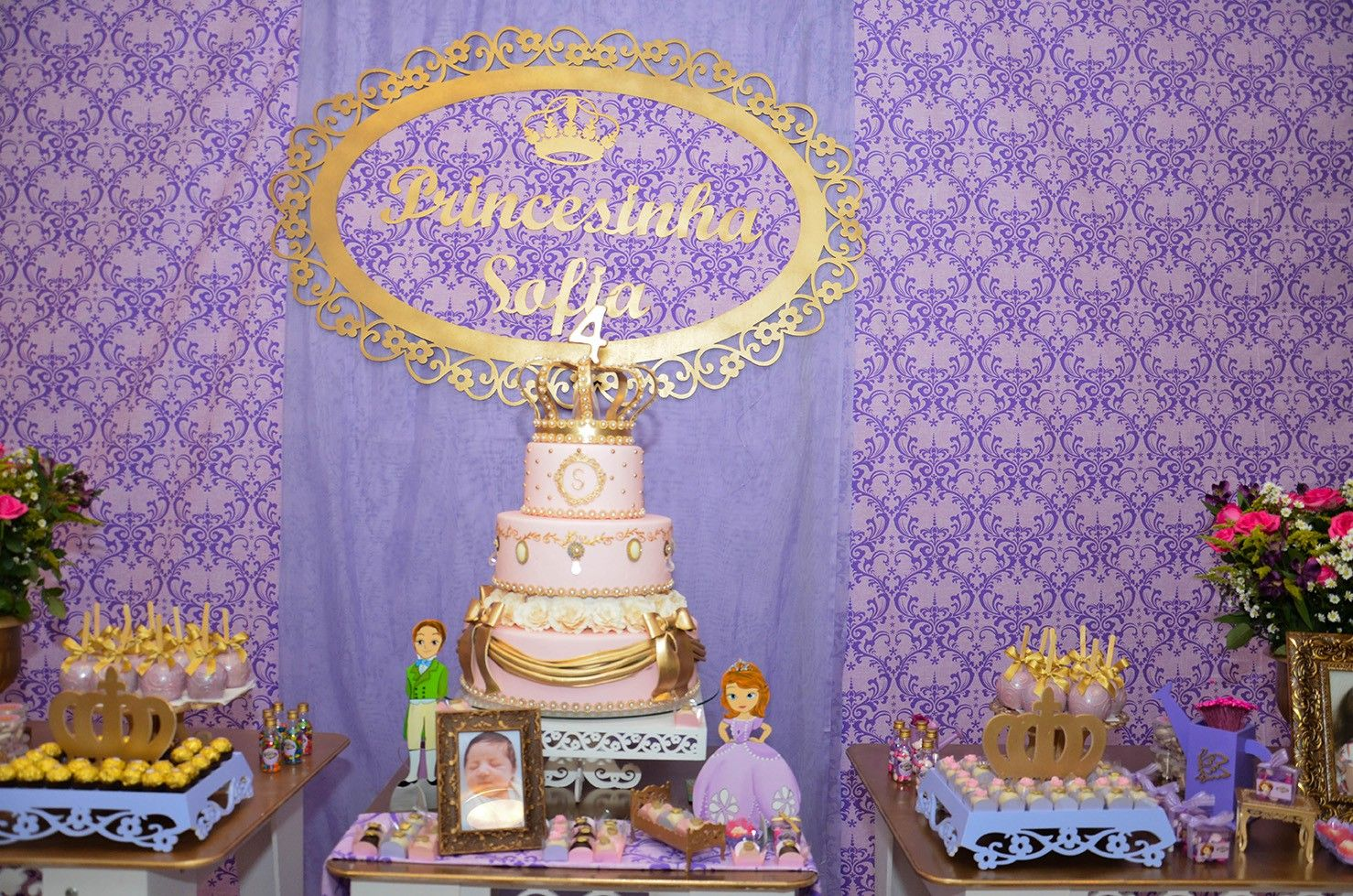 princesa sofia festa rosa - Pesquisa Google