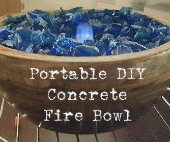 Portable DIY Concrete Fire Bowl