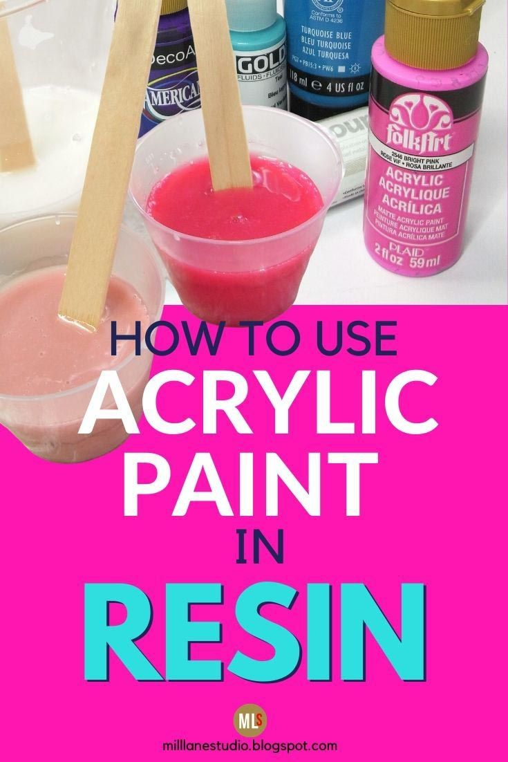 Photo of Learn how to colour resin with acrylic paints