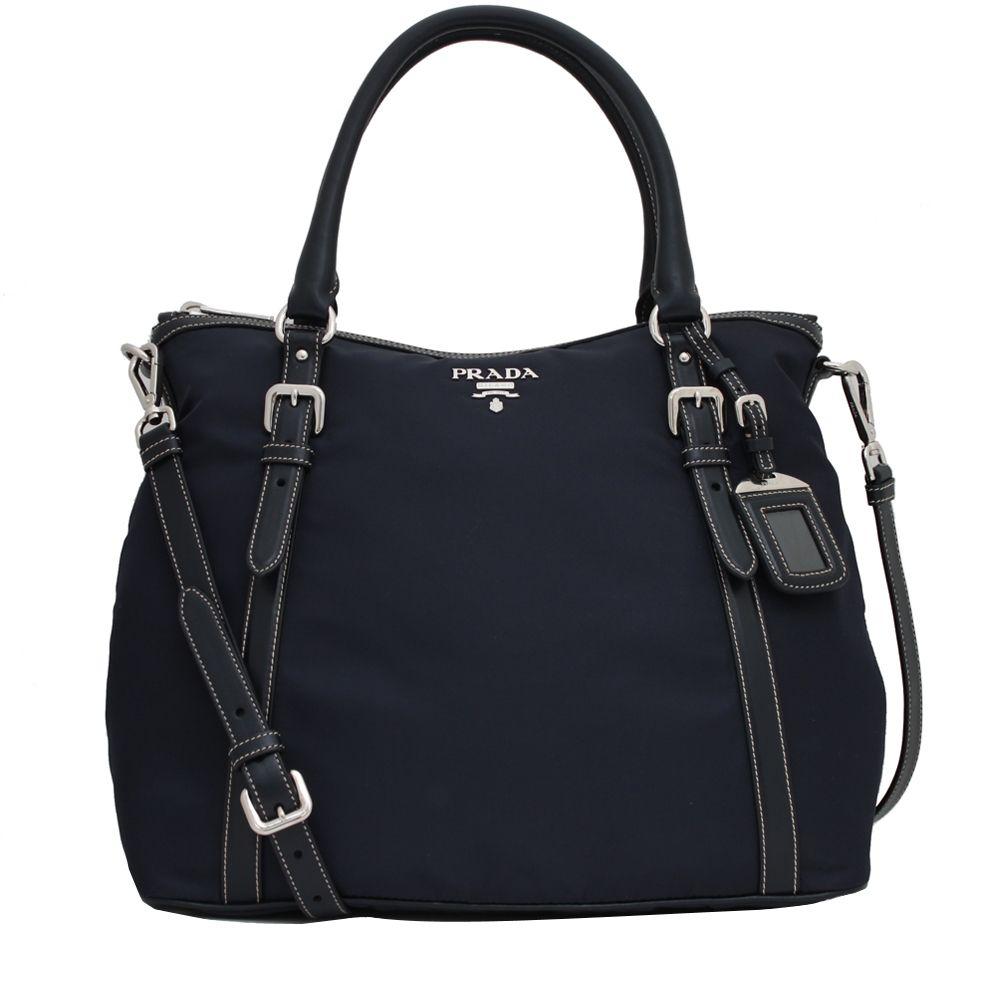 9afe90a9c022 Prada BR5116 Tessuto Nylon Convertible Bag- Blue | LV Gucci Prada ...