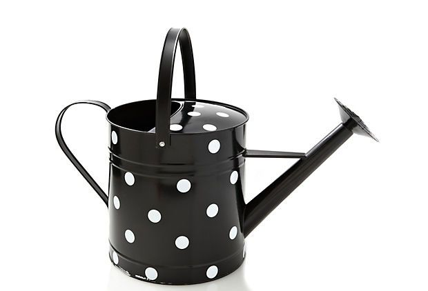 This polka dot watering can just makes us want to garden.