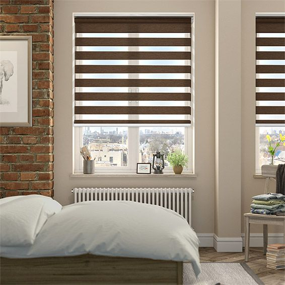 Enjoy Vision Luxe Walnut Enjoy Roller Blind from Blinds 2go