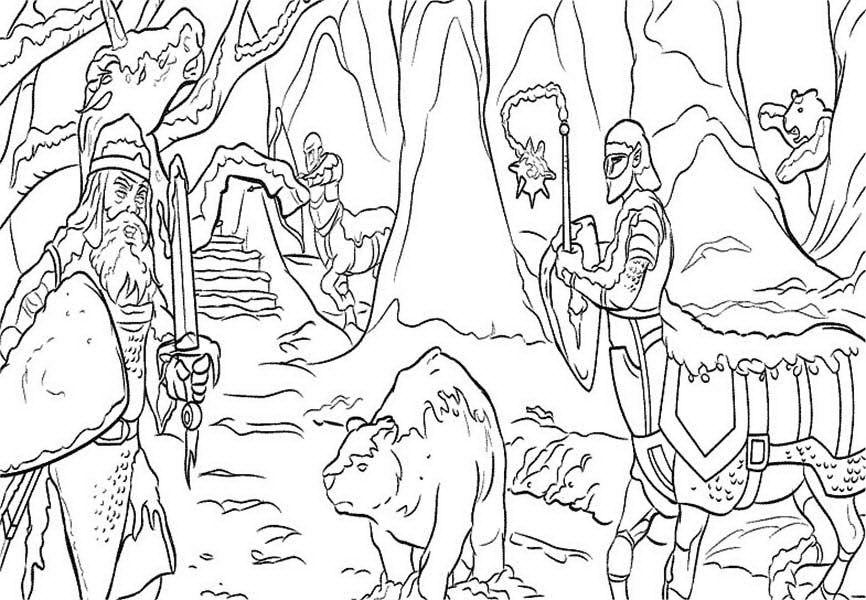 Narnia Kingdom Chronicles of Narnia Coloring Page