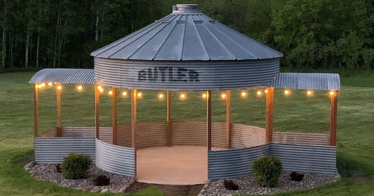A Grain Silo Turned Into Gazebo Could Be Your Best Summer Retreat