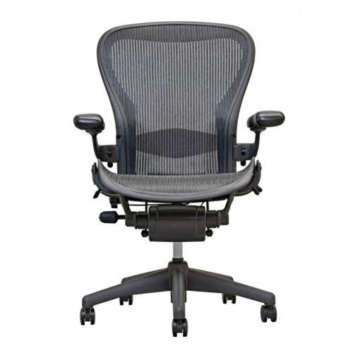 Herman Miller Aeron Chair Open Box Size B Fully Loaded Hardwood Caster Ebay Mesh Office Chair Office Chair Best Office Chair