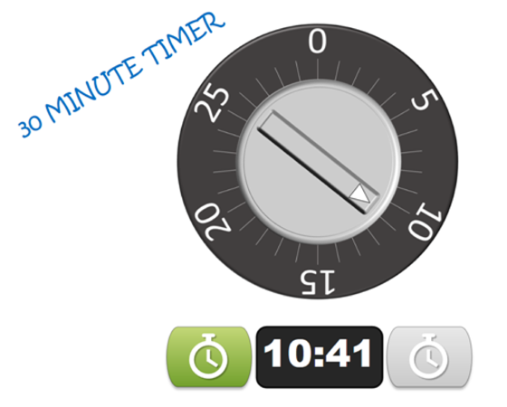Challenge your learners to beat the clock with this countdown timer