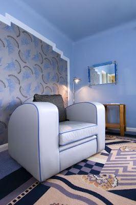 Art deco chair from burgh island hotel devon u k art for Art deco hotel devon