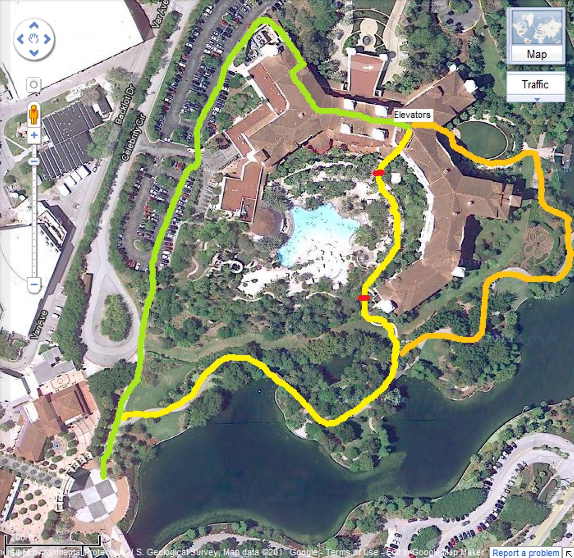 Web Site Map: Universal Studios Orlando Hotels Map